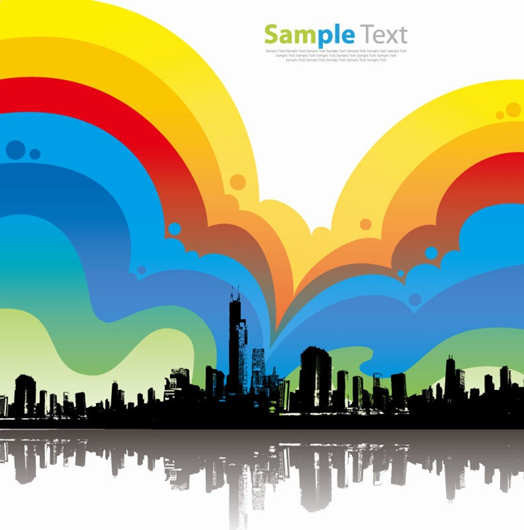 758x768 Colorful City Background Vector Illustration Free Vector