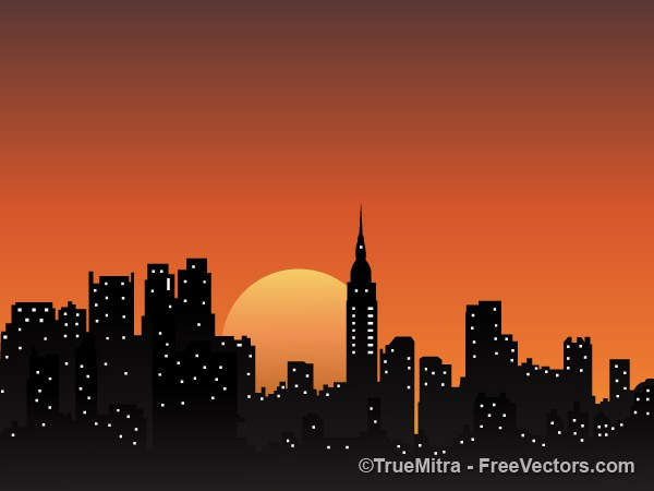 600x450 Download Free City Background Vector Illustration