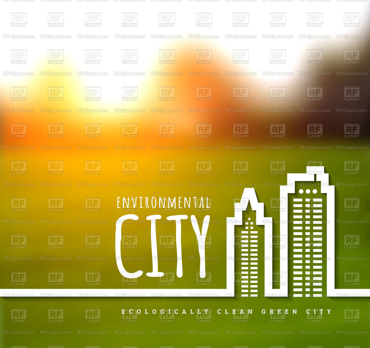 1200x1129 Ecologically Clean Green City Background Vector Image Vector