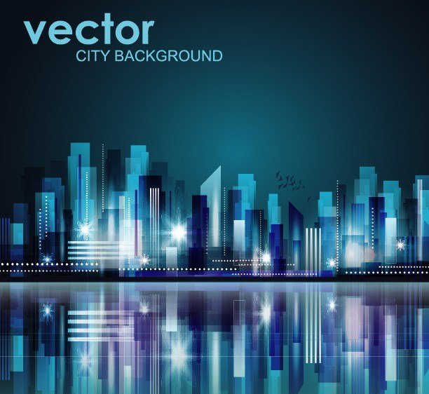 612x562 Free Abstract Modern City Background Vector 04