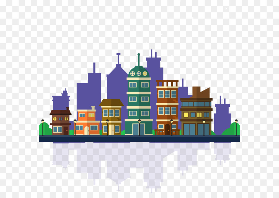 900x640 Vector City Building Background Png Download