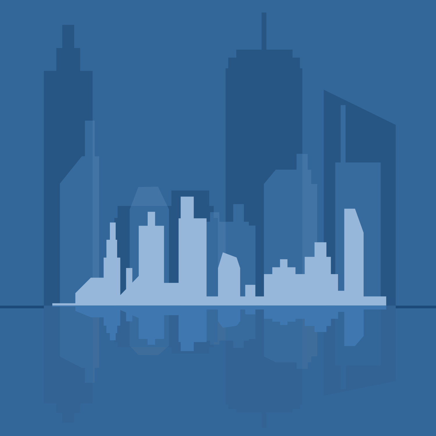 1500x1500 Vector For Free Use Abstract City Vector