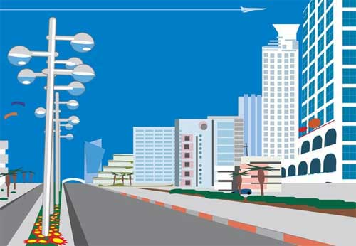 500x346 City Background Designs In Vector Format That You Can Use For Free