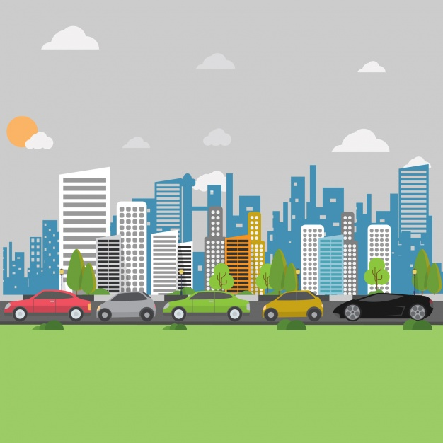 626x626 City Background Design Vector Free Download