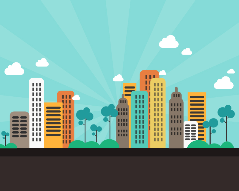 800x640 Cartoon City Building Psd Free Vector Graphic Download