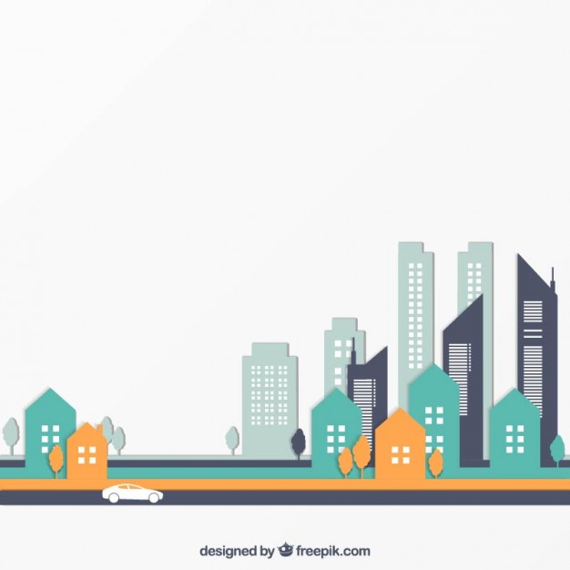 626x626 City Buildings Vector Free Download