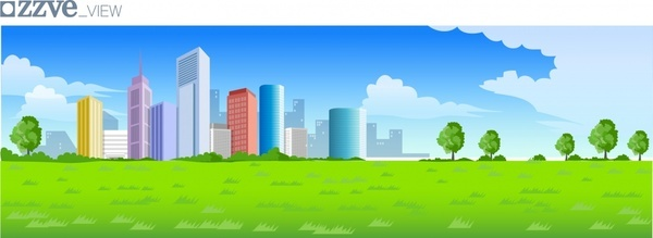 600x219 Colorful City Free Vector Download (25,078 Free Vector) For