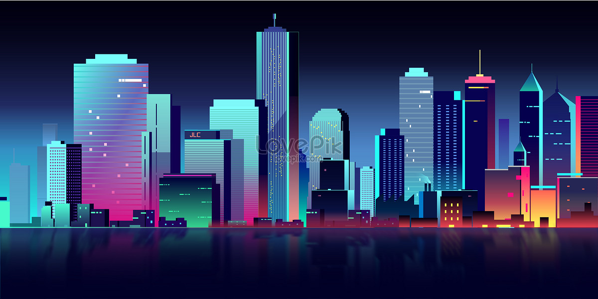1200x600 Flat Vector City Building Illustration Image Picture Free Download