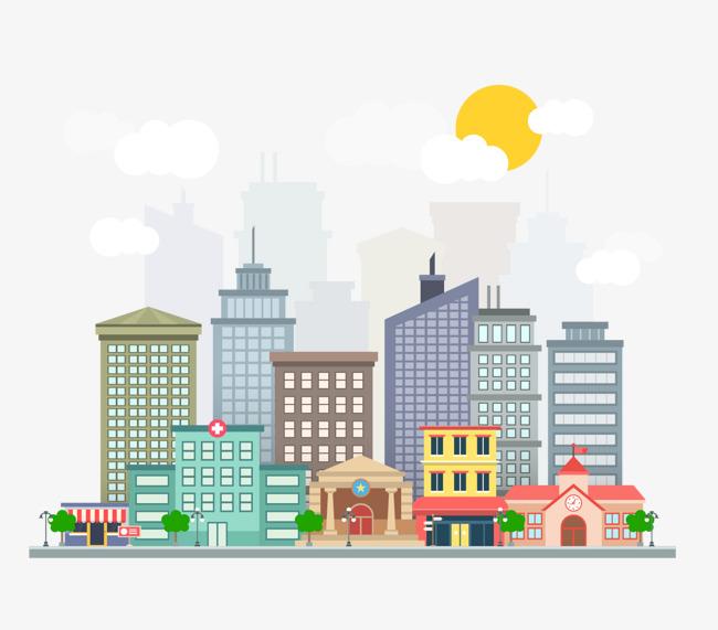 650x571 Vector City Building, City Vector, Building Vector, Building
