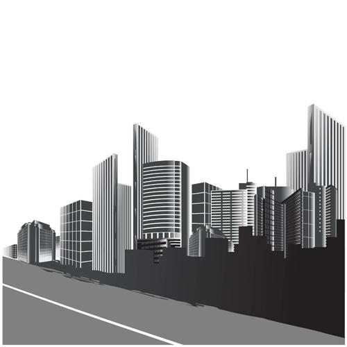 500x500 Vector City Buildings Design Elements 02 Free Download