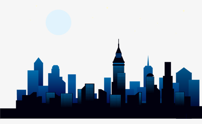 650x400 Vector Hand Painted City Building, City Vector, Building Vector
