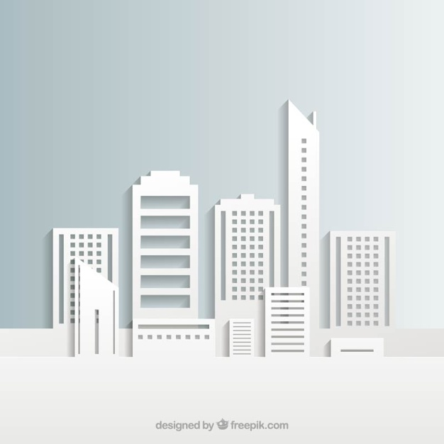 626x626 White City Buildings Vector Free Download