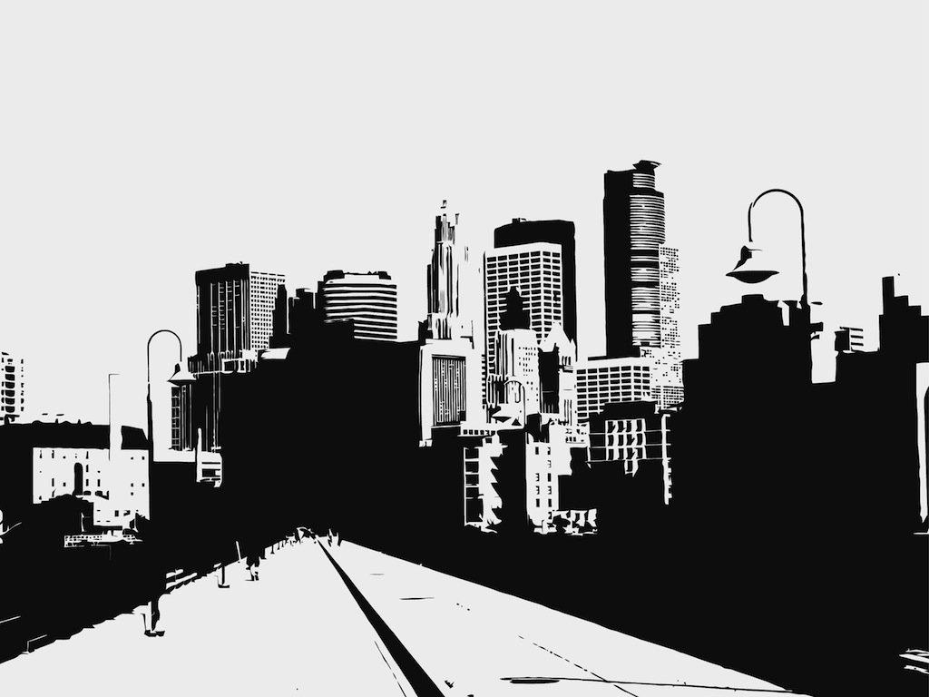 1024x768 City Road Illustration Vector Art Amp Graphics