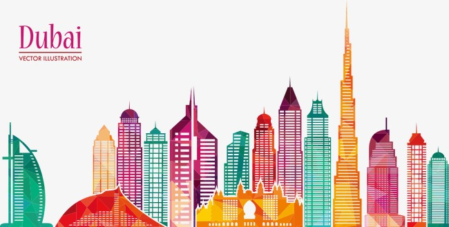 650x329 Dubai City Vector Illustration, House, City, Building Png And