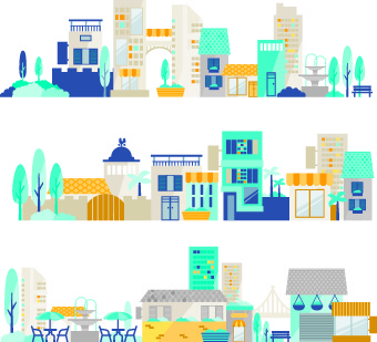 340x309 Free Vector City Illustrator Free Vector Download (223,526 Free