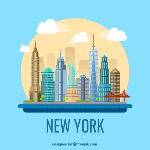 626x626 New York City Illustration Vector Free Download