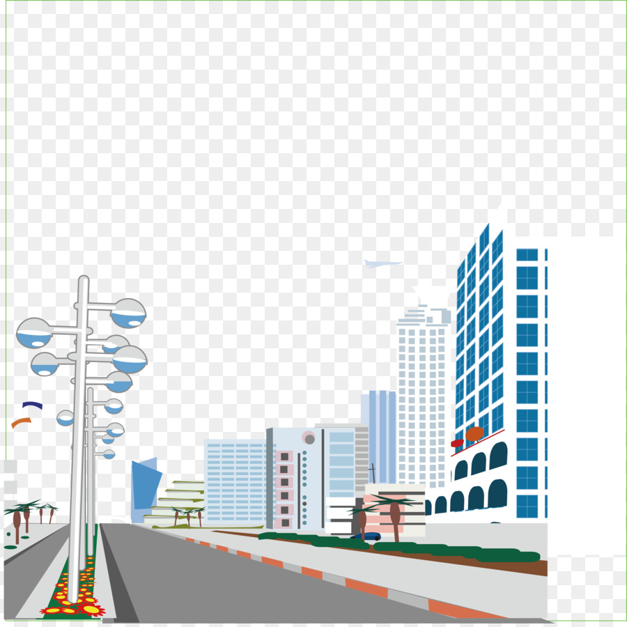 900x900 Road Street City Illustration