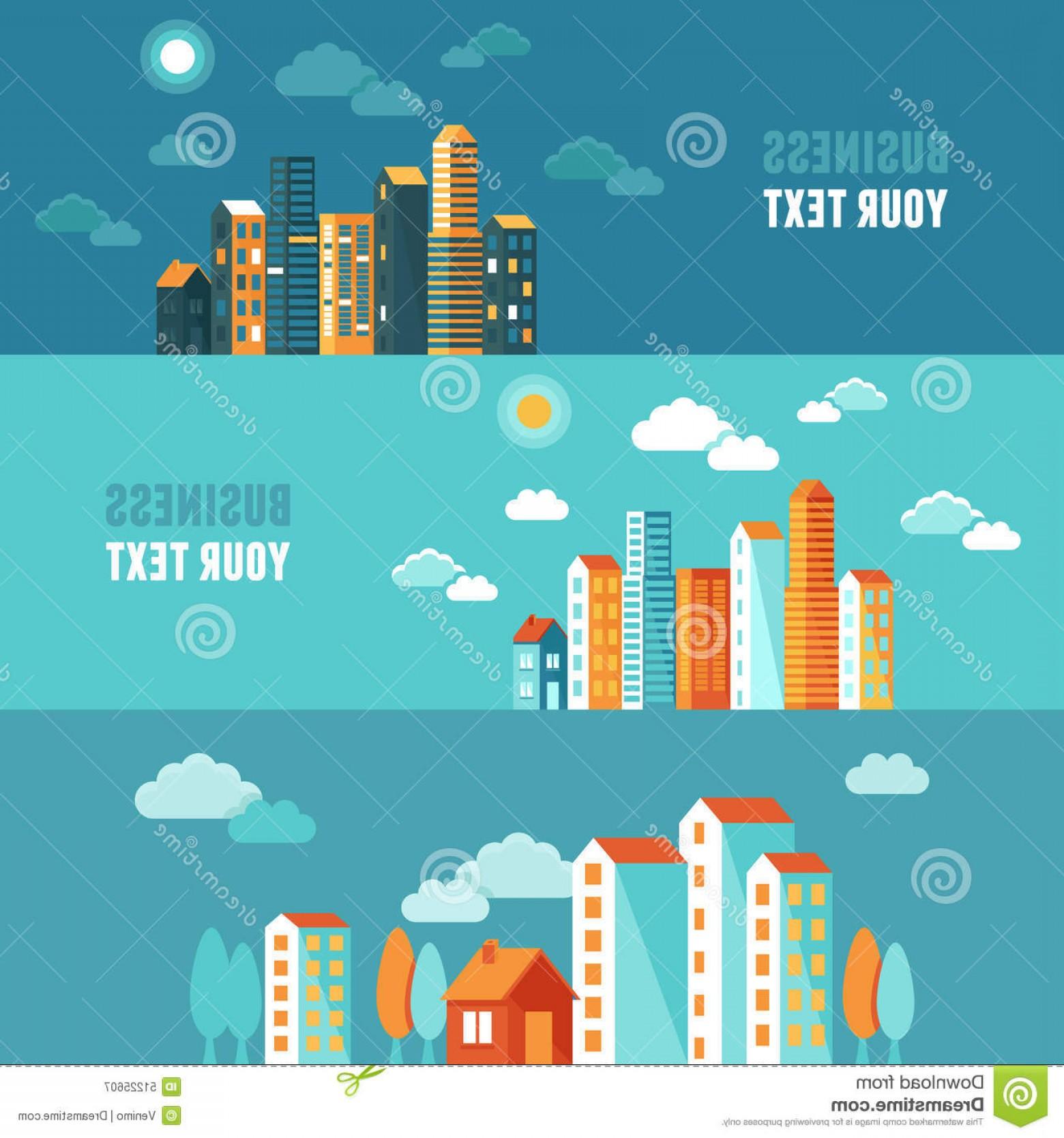 1560x1668 Stock Illustration Vector City Illustration Flat Simple Style