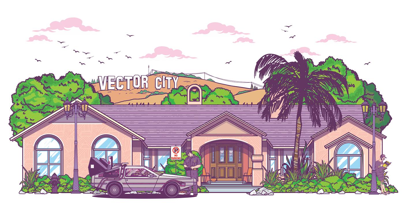 1400x705 Vector City On Behance