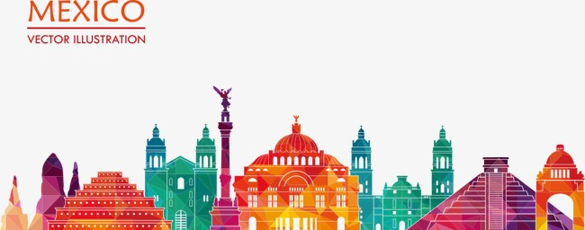 650x256 Vector Illustration Mexico City, House, City, Building Png And