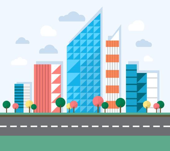 549x490 Big City Illustration