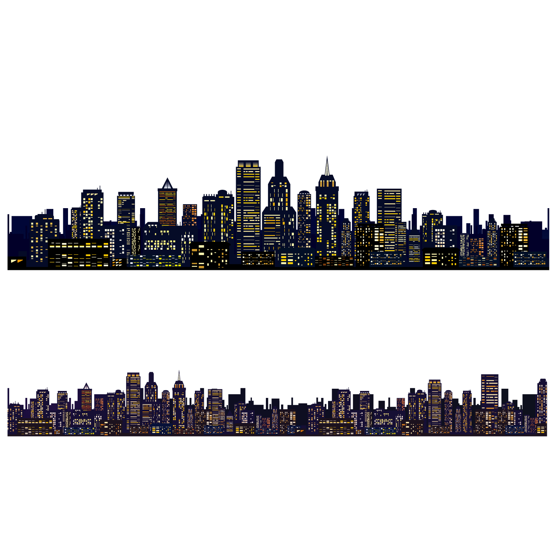 1501x1501 Collection Of Free Skyline Vector City Landscape. Download On Ubisafe
