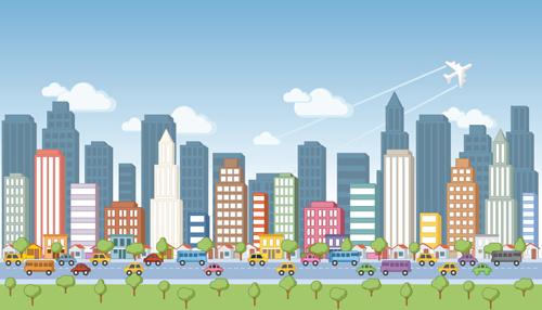 500x286 Cartoon City Landscape Vector Free Vector In Encapsulated