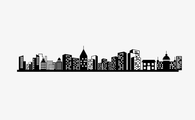 650x400 Vector Black Cityscape High Skies, Vector City Landscape, Black