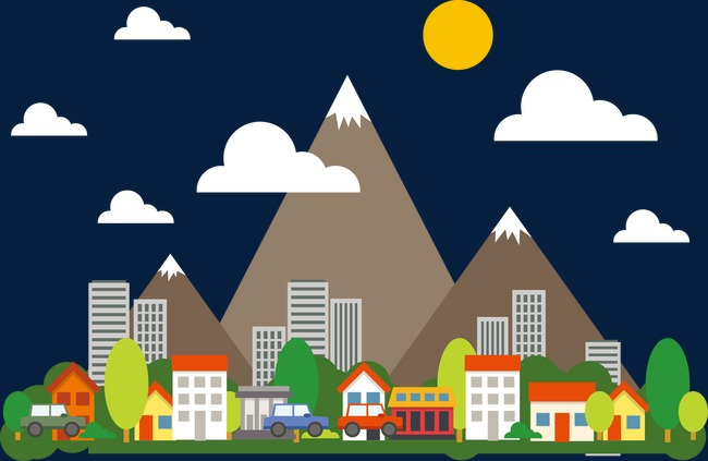650x423 Vector Urban Landscape, City, Landscape, Vector Png And Vector For