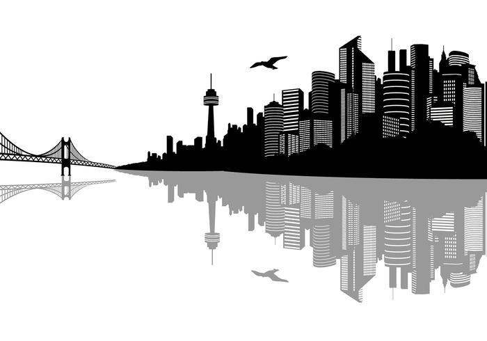 700x490 City Landscape Vectors