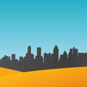 300x300 City Skyline Vector