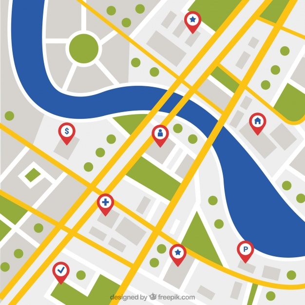 626x626 Background Of City Map With River Vector Free Download