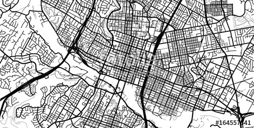 500x253 Austin City Map Vector City Map Of Austin Texas Stock Image And