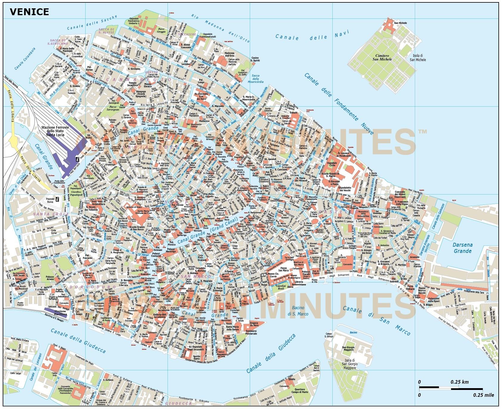 1684x1373 Digital Vector Venice City Royalty Free Map In Illustrator Or Pdf