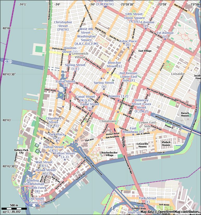 773x828 Free New York City Vector City Street Map For Use In Adobe