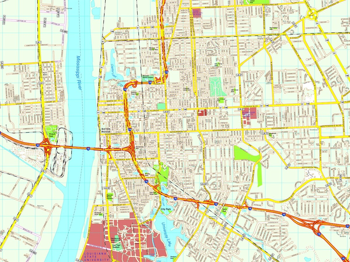 1200x900 Baton Rouge Map Free Eps Illustrator Vector City Maps Usa America
