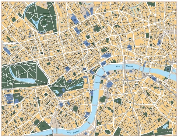 588x452 Maps Store, Mapmakers Barcelona. Eps Vector Files And Wall Maps
