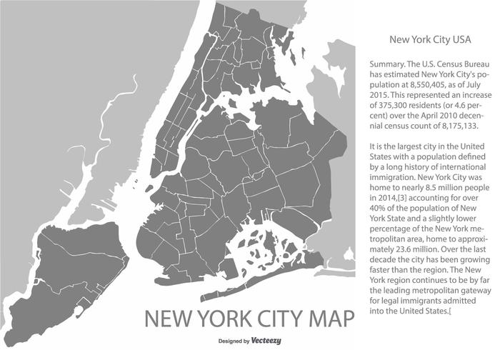700x490 New York City Map Illustration