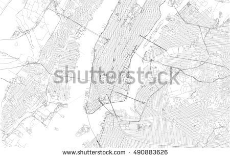 450x309 New York City Map Vector New York City Map Streets Usa Stock