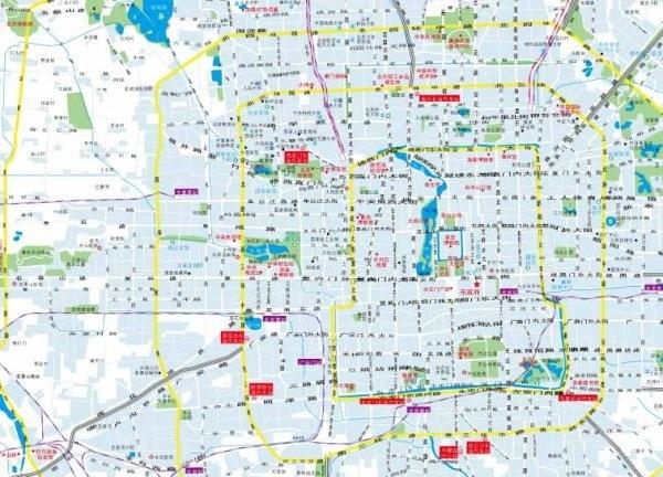 600x432 Beijing City Map Vector Free Vector In Adobe Illustrator Ai ( .ai