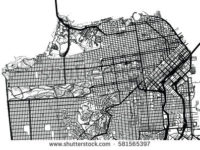200x150 San Francisco Map Vector Free Download Stock Vector San Francisco