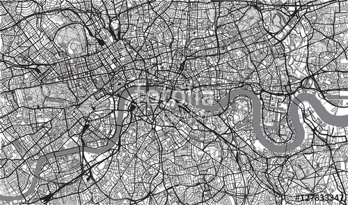 500x294 Urban City Map Of London, England Stock Image And Royalty Free