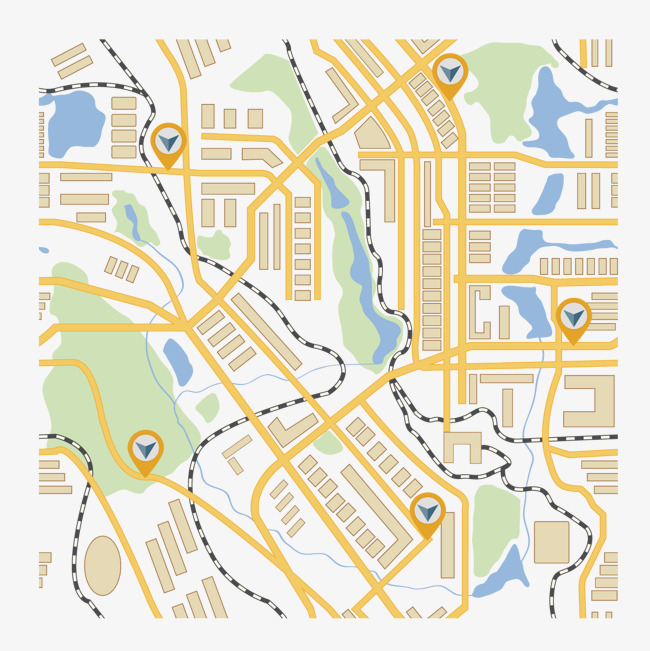 650x651 Vector City Map Illustration, Map Clipart, Color Map, Vector Png