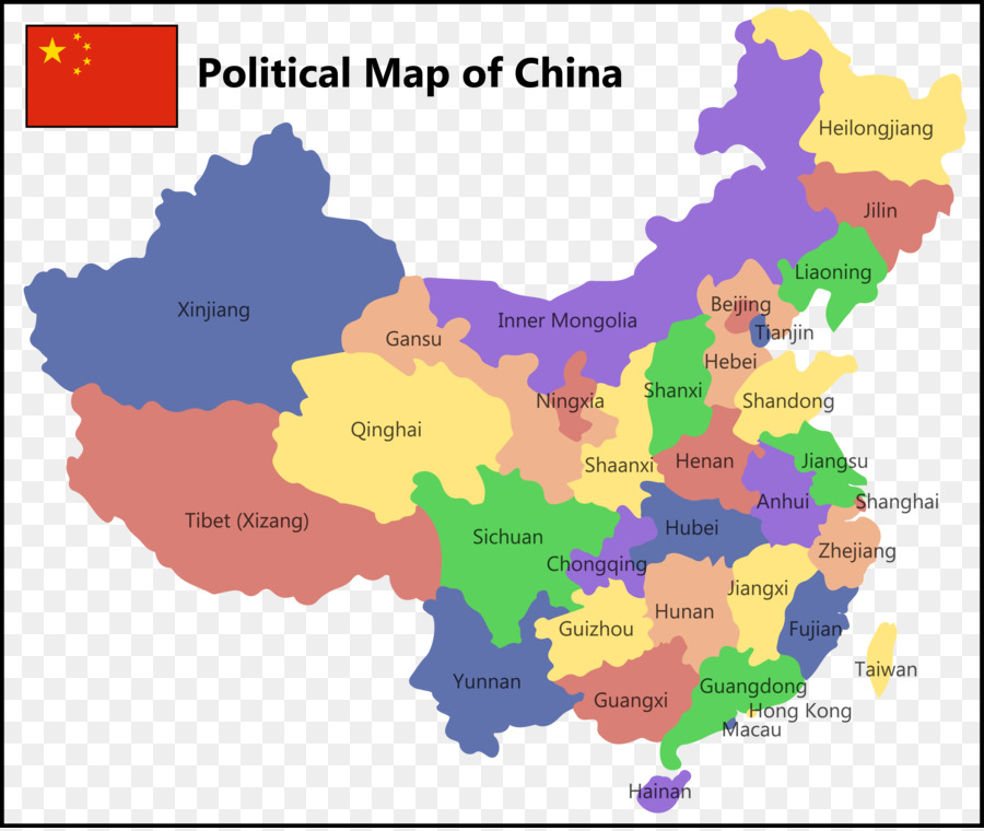 900x760 China United States Prefecture Level City Map
