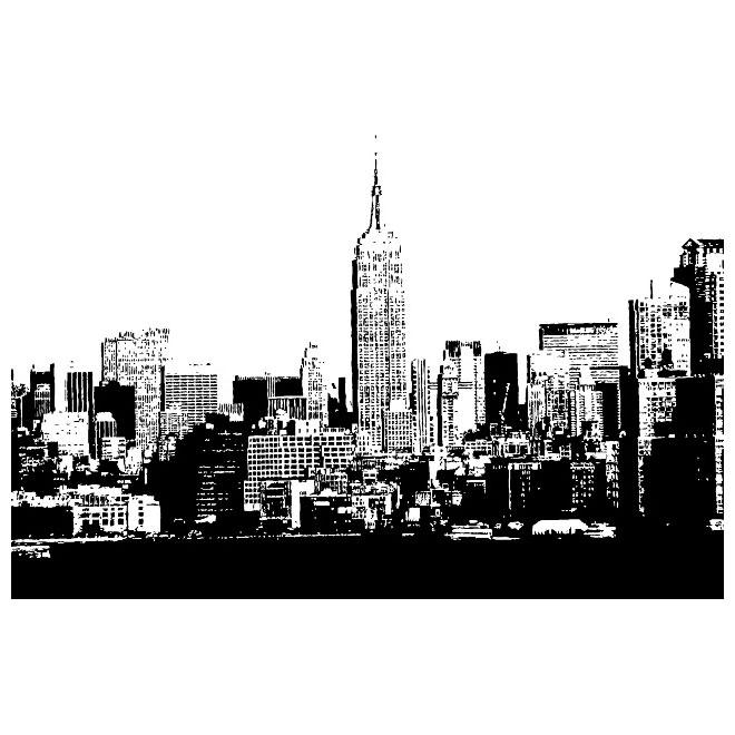 660x660 New York City Skyline Vector