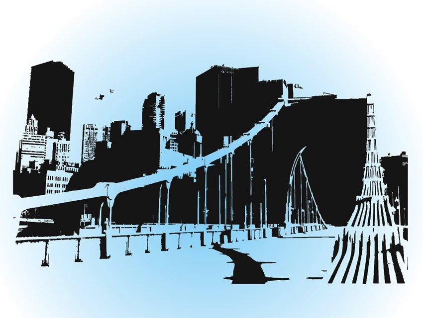 850x640 City Skyline Vector Art Amp Graphics