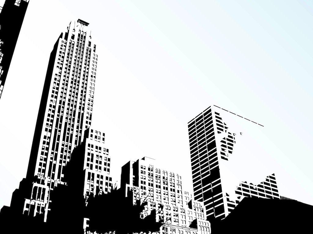 1024x768 City Skyline Vector Vector Art Amp Graphics