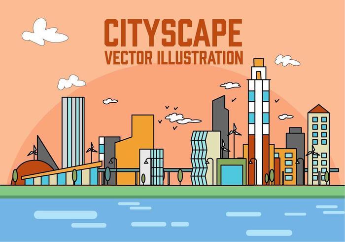 700x490 City Free Vector Art