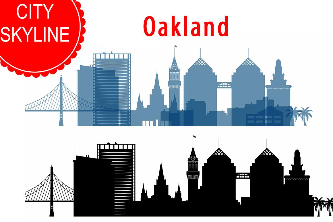 1160x772 Oakland Skyline Vector, California Usa City, Svg, Jpg, Png, Dwg