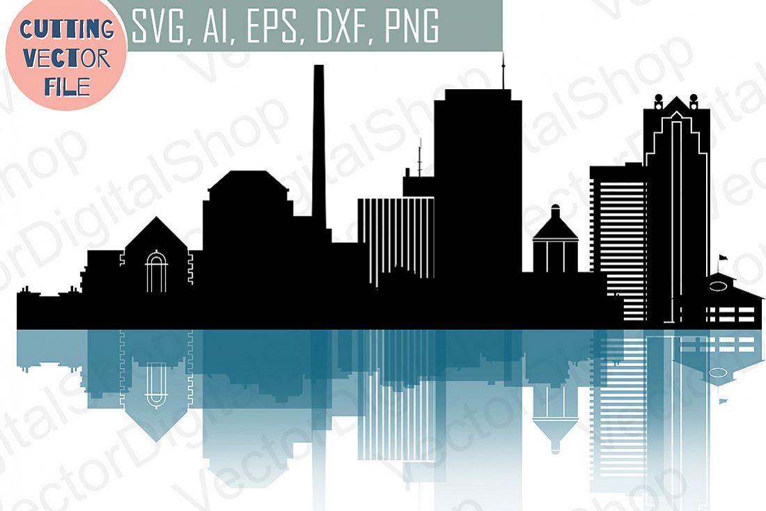 1100x734 Birmingham Svg, Alabama City Vector Sky Design Bundles
